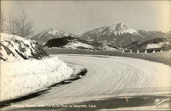 Spanish Peaks from La Veta Pass in Winter