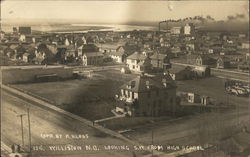 Aerial View of Town Looking SW from High School