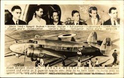 Howard Hughes and Crew - Lockheed Monoplane Postcard