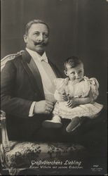 Kaiser Wilhelm with his Grandson