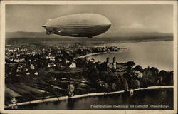 The Hindenburg over Lake Constance