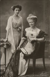 Empress Augusta Victoria and daughter Princess Victoria Louise