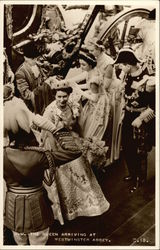 H. M. The Queen Arriving at Westminster Abbey