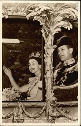 Queen Elizabeth II and Duke of Edinburgh in State Coach