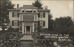 1909 Summer Home of the Southern Writer Olive Lee