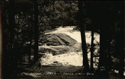 Rainbow Falls, West Branch of Wolf River Postcard