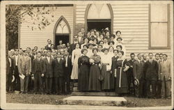 Large Group of People Outside Church