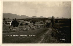U.S.50 East of Burlington Postcard