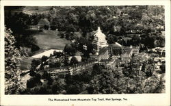 The Homestead from Mountain Top Trail Postcard