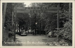 Entrance to Peterson's Park Point Resort - Lake Kabetogama