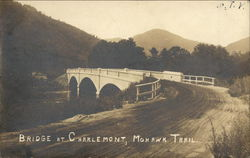 Bridge at Charlemont, Mohawk Trail Postcard