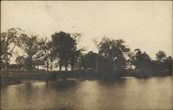 View of a Home on the Shore of a Lake