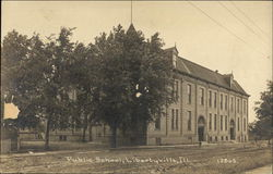 Public School Library Postcard