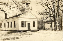 View of Rural Church during Winter, Rockefeller Postcard