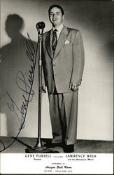 Vocalist Gene Pursell Autographed
