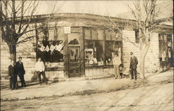 Men Posing in front of a Storefront