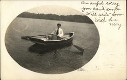 Woman in Boat on Water