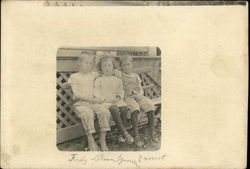 Three Children on Bench