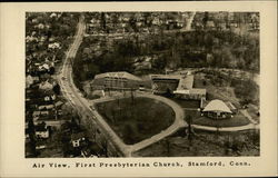 Air View, First Presbyterian Church, Stamford, Conn.
