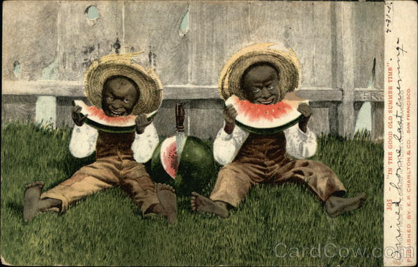 Small Black Children Eating Watermelon Black Americana