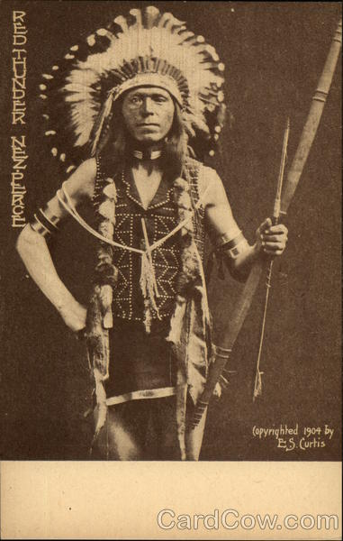 Red Thunder, Nez Perce Indian Native Americana