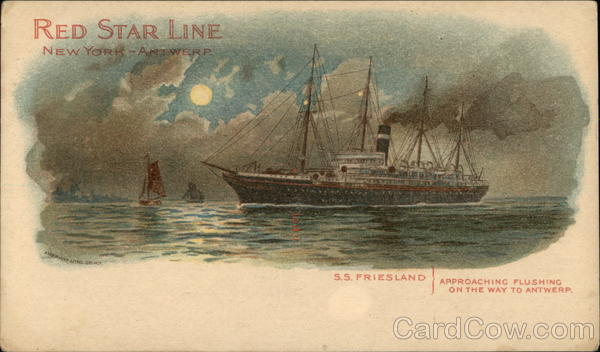 S. S. Friesland, Red Star Line, New York Antwerp Boats, Ships