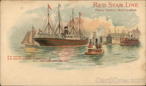 Red Star Line, New York--Antwerp Boats, Ships