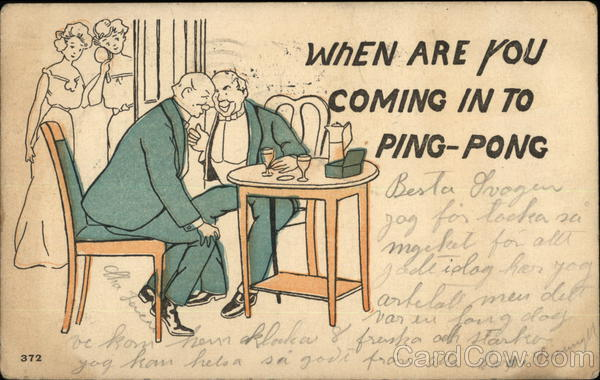When are you coming in to ping-pong Comic, Funny