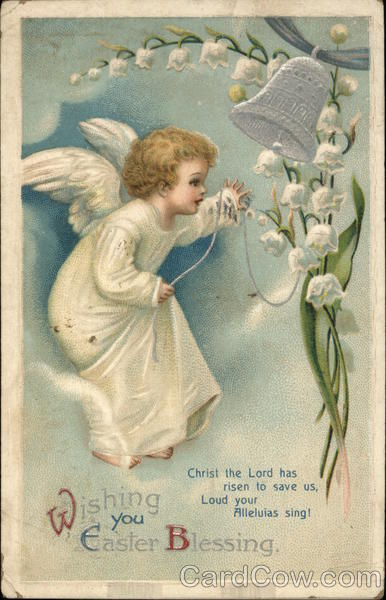Wishing you Easter Blessing Ellen Clapsaddle With Angels