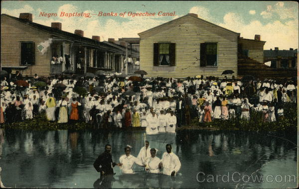 Negro Baptising - Banks of Ogeechee Canal Black Americana