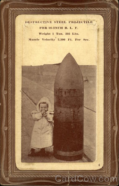 Destructive Steel Projectile For 16-inch B. L. F. Military