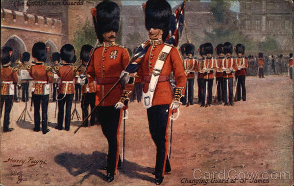 Coldstream Guards England Tuck's Oilette Series