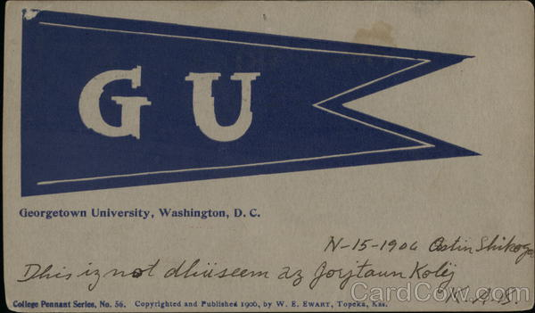 Georgetown University Pennant Washington District of Columbia