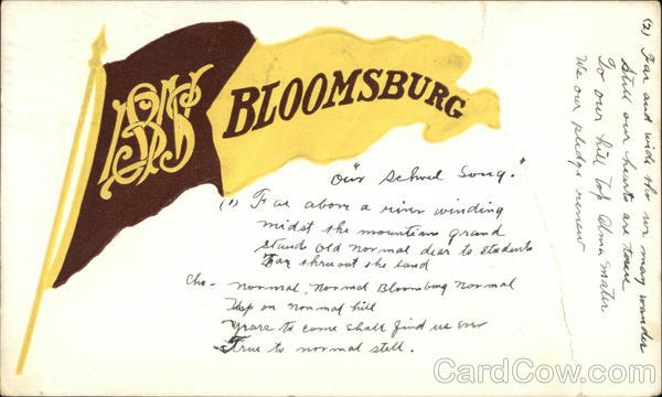 Bloomsburg Pennant Pennsylvania School Pennants