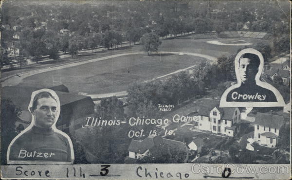 Illinois--Chicago Game, October 15, 1910 Football
