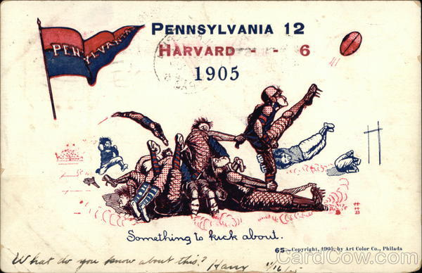 Rare University of Pennsylvania Football Universities