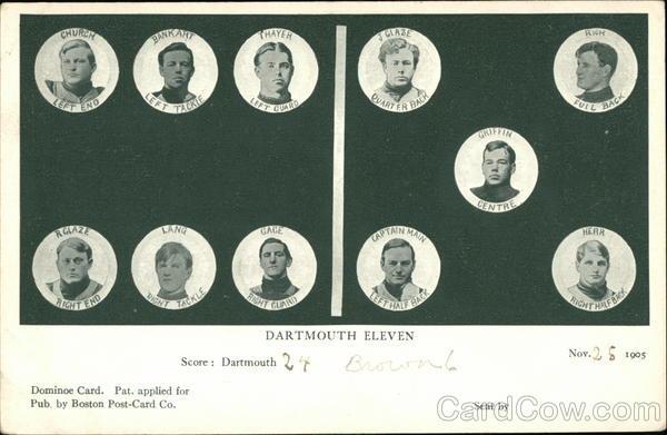 Dartmouth Eleven Football Hanover New Hampshire Universities
