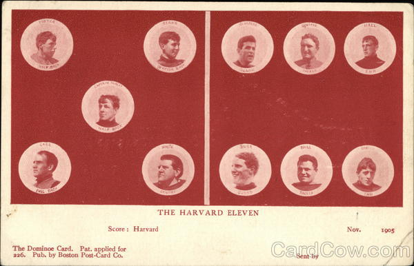 Harvard University 1905 Football Starting Roster Universities