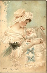 Mother and Baby in Frilly Dress