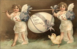 Best Easter Wishes: Angels Carrying Egg