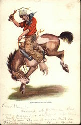 Broncho Buster - Painting of rodeo cowboy riding bucking horse