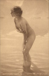 Nude Young Girl Bathing - September Morn