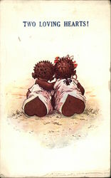 Two Loving Hearts! Postcard