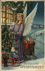 Angel with Christmas Tree and Toys