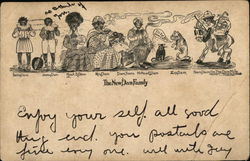 The New Dam Family (African American) Postcard