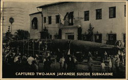 Captured Two-Man Japanese Suicide Submarine