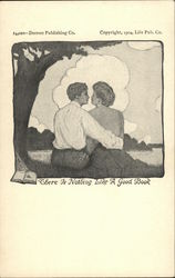 Couple Embracing Under Tree