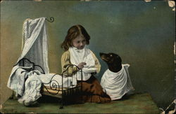 Child Feeding Dog.