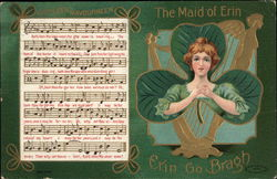 The Maid of Erin with Sheet of Music