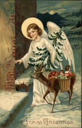 Angel with Deer Carrying Gifts